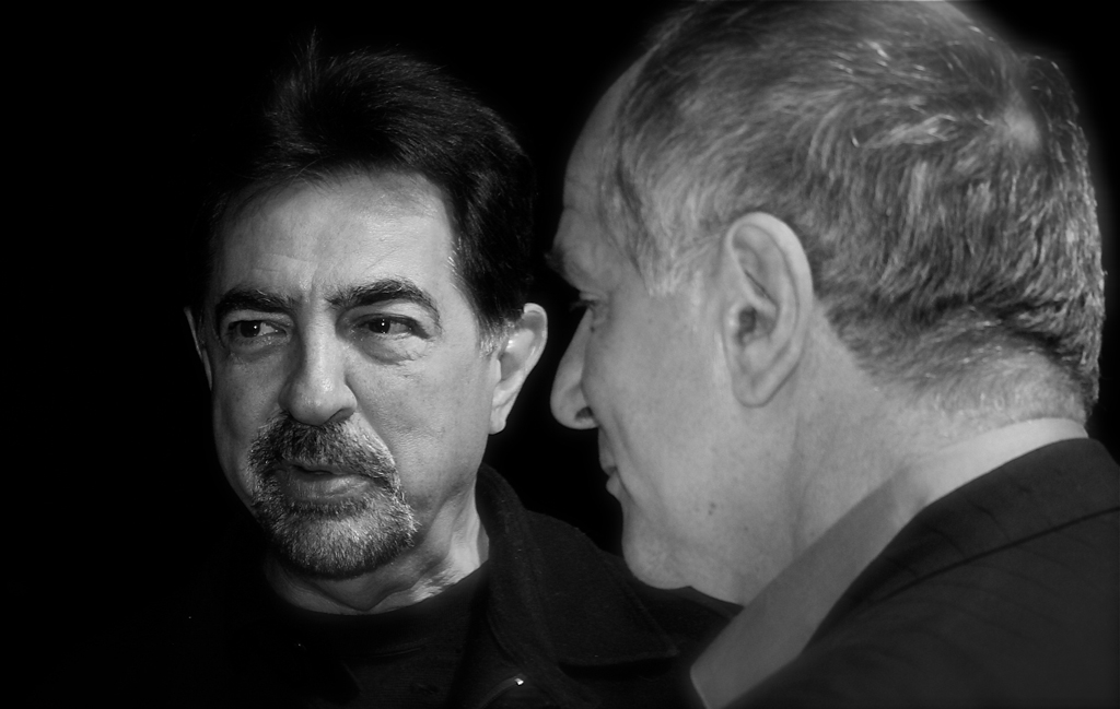 Renowned actors Joe Mantegna and John Kapelos on the set of